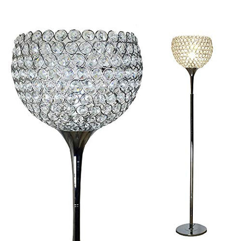 Surpars House Ball Shape Crystal Floor Lamp,Silver - llightsdaddy - Surpars House - Lamp Shades