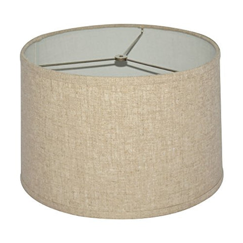 "Tootoo Star Fabric Natural Linen Drum Hand Crafted Large Lamp Shade Lampshade For Chandeliers Floor Table Lamp 13X14X9"" (Brown,Spider)  Tootoo Star Lights llightsdaddy.myshopify.com lightsdaddy"