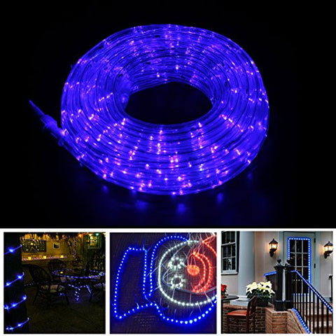 Rope Lights Christmas Decoration Light - 8 Modes 30Ft 225Leds Blue - Landscape Lighting Dancing Party Led Fairy Lights Wedding Xmas Tree Garden Novetly Indoor Outdoor Starry Decorative Light