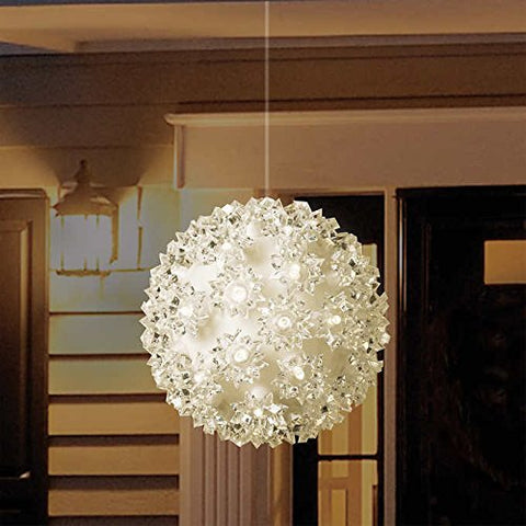 Ball light Christmas LED Starlight Sphere,Warm White, Sparkle effect,Set of 3, Indoor / Outdoor Lights - 3 packs - llightsdaddy - GE - Indoor String Lights