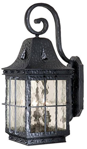 "Vaxcel Vaxcel ED-OWD090TB Edinburgh 9"" Outdoor Wall Light, Textured Black - llightsdaddy - Vaxcel - Outdoor Porch & Patio Lights"