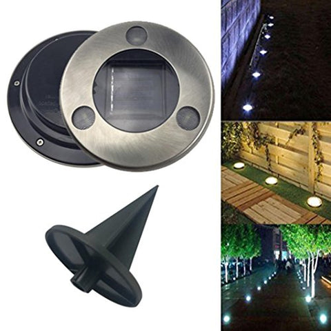 Solar Powered Light - Fheaven 3LED Solar Power Buried Light Ground Lamp Outdoor Path Way Garden Decking Light - llightsdaddy - Fheaven - Lamp Shades
