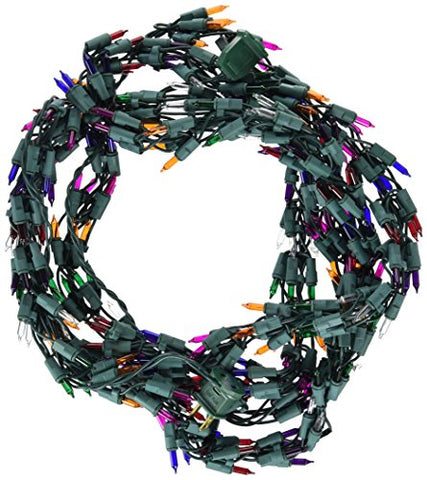 Vickerman 9' Christmas Light Garland with 300 Multi-Color Mini Lights - Green Wire - llightsdaddy - Vickerman - Indoor String Lights