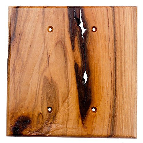 Sierra Lifestyles Traditional Switch Plate, 2 Blank, Rustic Switch Plate Hickory - llightsdaddy - Sierra Lifestyles - Lamp Post Mounts