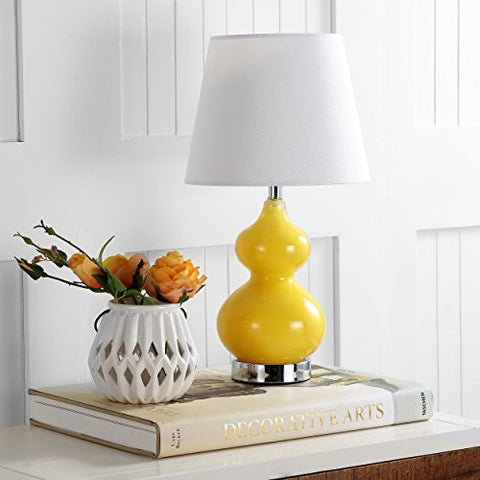 Safavieh Kids Lighting Collection Eva Yellow Double Mini Table Lamp