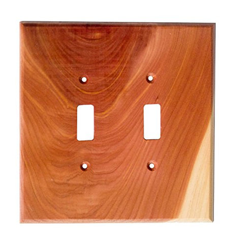 Sierra Lifestyles Traditional Switch Plate, 2 Toggle, Tennessee Aromatic Cedar  Sierra Lifestyles Wall Plates llightsdaddy.myshopify.com lightsdaddy