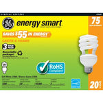 Soft White Spiral Compact Fluorescent Light Bulb (Pack of 3) Wattage: 20 - llightsdaddy - GE Lighting - Fluorescent Tubes