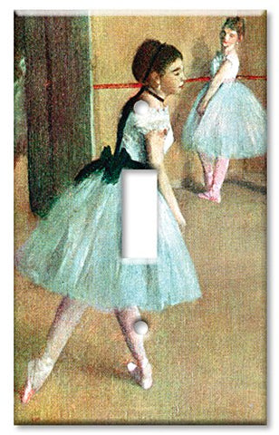 Single Gang Toggle Wall Plate - Degas: Dance Foyer  Art Plates Wall Plates llightsdaddy.myshopify.com lightsdaddy