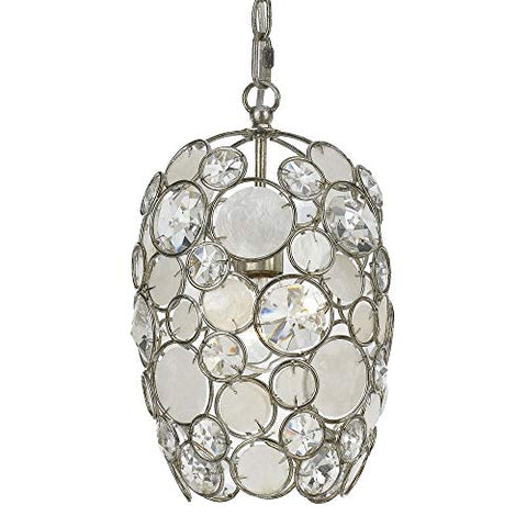 Crystorama 523-SA Crystal Accents Mini Chandelier from Palla collection in Pwt, Nckl, B/S, Slvr.finish,