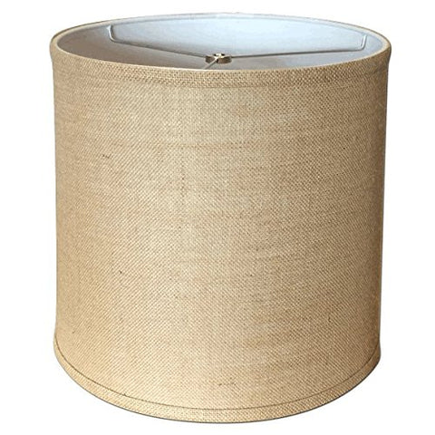 A Ray Of Light 121312BUR 12-Inch by 13-Inch by 12-Inch Brown Burlap Drum Shade - llightsdaddy - A Ray Of Light - Lamp Shades