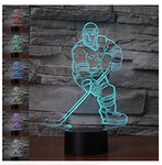 3D New Ice Hockey Athlete Night Light Touch Table Desk Optical Illusion Lamps 7 Color Changing Lights Home Decoration Xmas Birthday Gift - llightsdaddy - VZND - Lamp Shades