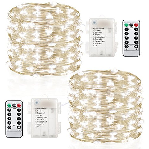 Gdealer 2 Pack Fairy Lights 20 Ft 60 Led Battery Operated ...