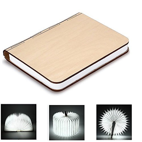 Wooden Foldable LED Nightlight Book Style Rechargeable Folding Desk Lamp Table Lamp USB Book Lamp Decorative - llightsdaddy - BestOpps - Book Lights