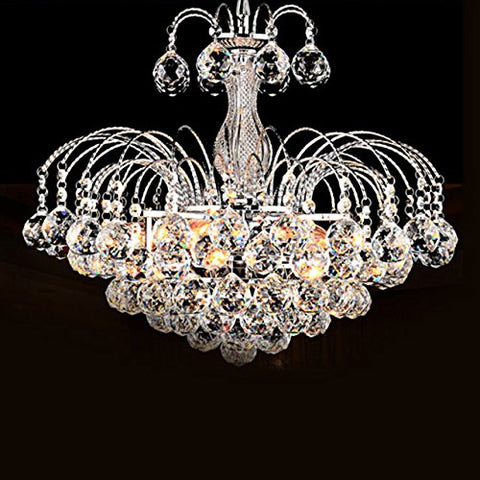 Lightinthebox European-Style Luxury 3 Light Chandelier with Crystal Balls Ceiling Light Fixture with Bulb Included fit for Dining Room Bedroom Living Room