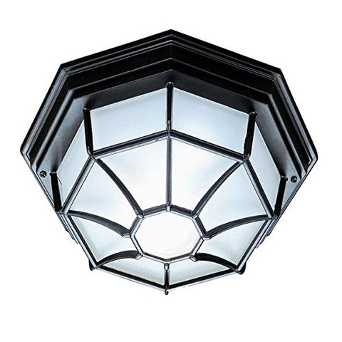 Acclaim 2002BK Flush Mount Collection 2-Light Ceiling Mount Outdoor Light Fixture, Matte Black