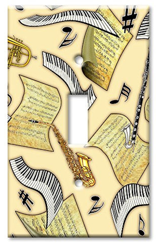 Single Gang Toggle Wall Plate - Music in the Air  Art Plates Wall Plates llightsdaddy.myshopify.com lightsdaddy