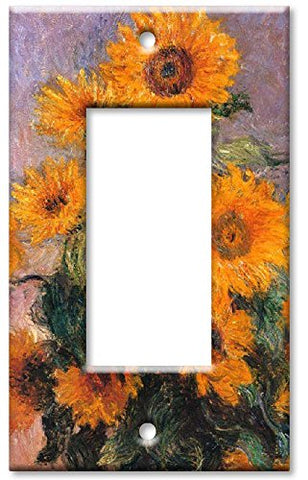 Single Gang Rocker Wall Plate - Monet: Sunflowers - llightsdaddy - Art Plates - Wall Plates