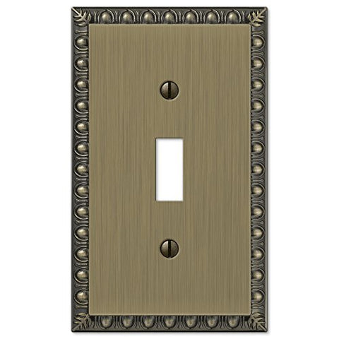 Renaissance Cast Brushed Brass - 1 Toggle Wallplate - llightsdaddy - Unknown - Wall Plates