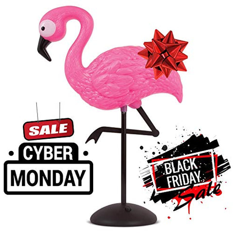 Flamingo Decor Pink Standing Lamp - Led Light Up Table Desk Top Wireless Portable Home Office Figurine Decoration Accessory Night Lights Perfect For Bedroom Parties Christmas Birthday Gifts