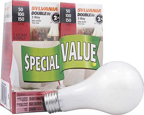 sylvania-home-lighting-18167-incandescnet-3-way-bulb-a21-50w-100w-150w-2850k-double-life-soft-white-finish-medium-base-pack-of-2