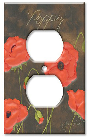 Outlet Cover Wall Plate - Poppy - llightsdaddy - Art Plates - Wall Plates