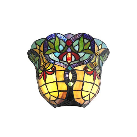 Chloe CH33389VR12-WS1 Wall Sconce, One Size, Multicolor