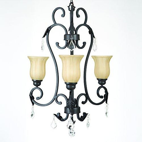Yosemite Home Dשcor 84233-3SS Vantage Collection Three Light Chandelier, Sierra Slate