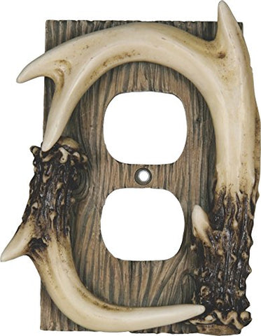 River's Edge Products Deer Antler Receptacle Cover - llightsdaddy - River's Edge Products - Wall Plates