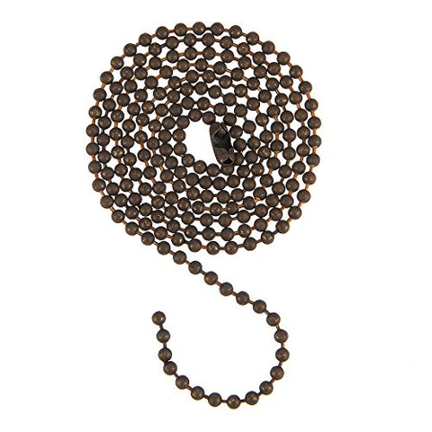 Uxcell Pull Chain Extension Ceiling Fan Beaded Chain Ornaments Bronze 3 Feet Length 3Mm Diameter  Uxcell Pull Chains llightsdaddy.myshopify.com lightsdaddy