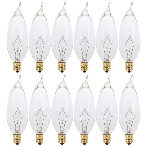 Decorative Dimmable Chandelier Lights Bulbs (120V) (Pack of 12) by KOR - llightsdaddy - KOR - Wall Plates
