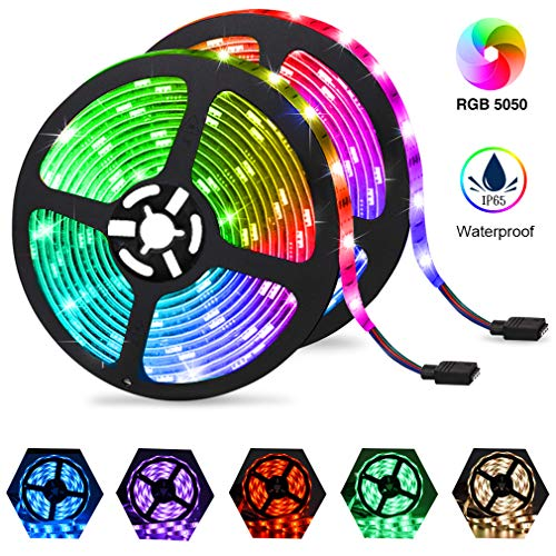 5050 RGB LED STRIP LIGHTS COLOR CHANGING TAPE UNDER CABINET LIGHTING WATERPROOF