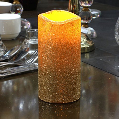 Flameless Pillar LED Candle with Timer Battery Operated vanilla ScentIvory 3 x 6