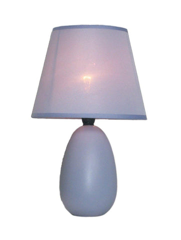 Simple Designs Mini  Egg Oval Ceramic Table Lamp - llightsdaddy - Simple Designs - Table Lamp