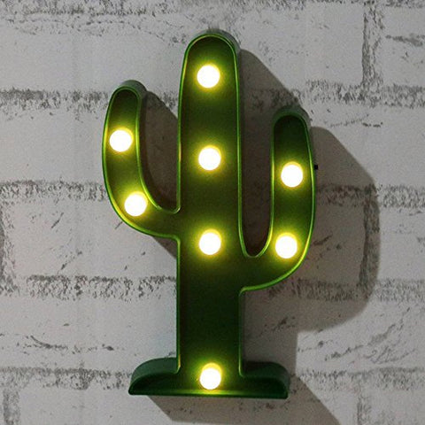 Led Cactus Lamp Lights Nightlight Kids' Room Decor Wedding Party Christmas Decorations, Battery Powered Decorative Art Deco Lights