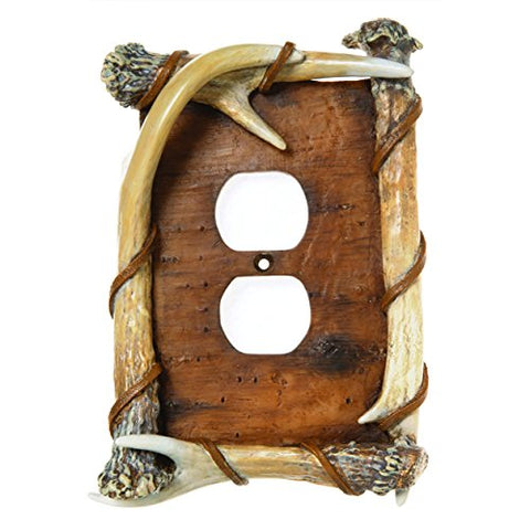 Big Sky Carvers 30170248 Bark Antler Outlet Cover - llightsdaddy - Big Sky Carvers - Wall Plates