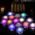 Youngerbaby Flowers Led Candles Color Changing Flameless Tea Lights with Purple Floral Decor for Wedding Decoration Dinning Table Centerpieces Garden Party Electric Plastic Flower - Pack of 15 - llightsdaddy - Youngerbaby - Flameless Candles