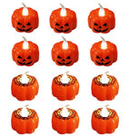 Bestag 12pc Pumpkin Candle LED Night Light Decoration Props Halloween Pumpkin - llightsdaddy - Bestag - Flameless Candles