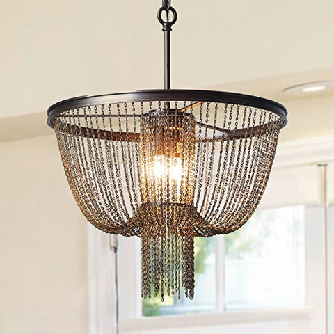 Classic Chandeliers, LOG BARN 2-Light Hall Draping Chains Chandeliers Pendant Lights, for Living Room, Dinning Room, Entryway, Foyer, Use E12 Bulbs (Bulbs not Included) A03311lightsdaddy.myshopify.com lightsdaddy