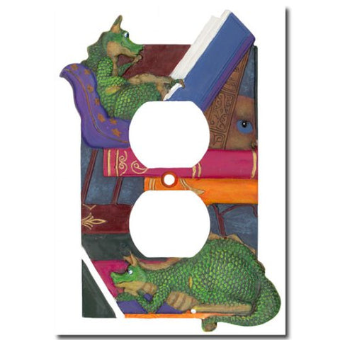 Draglings Baby Dragon Outlet Cover - llightsdaddy - Borders Unlimited - Wall Plates