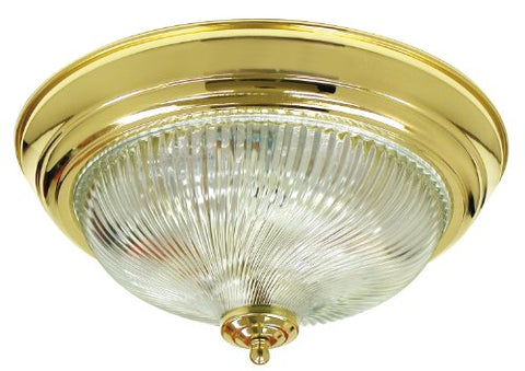 Monument 671358  Surface Mount Ceiling Fixture Polished Brass 12-3/4 In