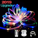 Ielecmg Led Rope Lights,Battery Powered String Lights 33Ft 100Leds Fairy Lights With Remote,Usb Rope Outdoor Light 8 Modes Waterproof Color Changing Tube Lights Dimmable For Patio Christmas Fence Boat