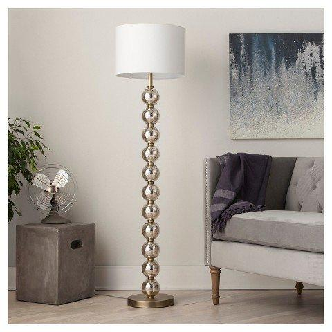 Stacked Ball Floor Lamp - Mercury Glass (Includes CFL Bulb) - Threshold鈩� - llightsdaddy - FLOOR | 9 - Lamps