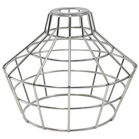 iLightingSupply 37-0114-25 Cage Premium Washer Mount Bulb Cage with Large Washer - Open Style - Polished Brassgalvanized - llightsdaddy - iLightingSupply - Fixture Replacement Globes & Shades