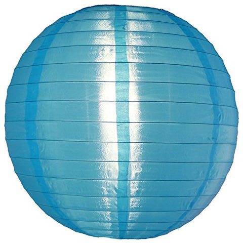 Quasimoon PaperLanternStore.com 14 Inch Sky Blue Nylon Lantern, Durable Hanging Decoration