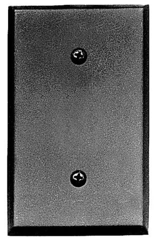 Acorn Manufacturing AWJBP 4.50 Inch Blank Switch Plate, Black Iron Finish - llightsdaddy - Acorn Mfg. - Lamp Post Mounts