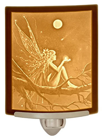 Catch a Falling Star by David Delamare Porcelain Lithophane Night Light - llightsdaddy - The Porcelain Garden - Night Lights