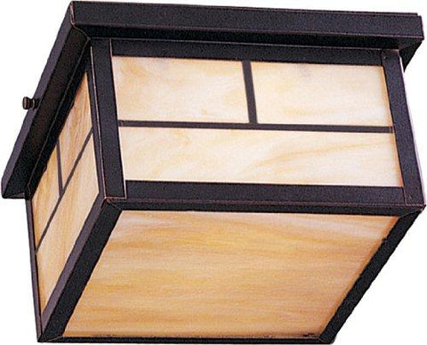 Maxim 85059HOBU Coldwater EE 2-Light Outdoor Ceiling Mount, Burnished Finish, Honey Glass, GU24 Fluorescent Fluorescent Bulb , 18W Max., Wet Safety Rating, 2700K Color Temp, Glass Shade Material, 1355 Rated Lumens - llightsdaddy - Ekena Millwork - Ceiling Medallions