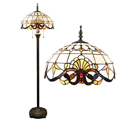 Gweat 16-Inch European Baroque tiffany Floor Lamp Living Room lamp - llightsdaddy - Gweat Tiffany - Lamp Shades