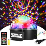 Sound Activated Party Lights with Remote Control?SOLMORE Disco lights Dj Lighting Disco Ball 9 Colors Strobe Lamp 7 Modes Stage Par Light Club Party Gift Kids Birthday Wedding Home Karaoke Dance