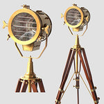 Vintage Old Century Morden Searchlight Nautical Lamp Timber Tripod Antique Spotlights - llightsdaddy - THORINSTRUMENTS (with device) - Lamp Shades